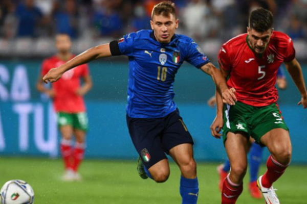 Italy stumbled and missed Bulgaria 1-1