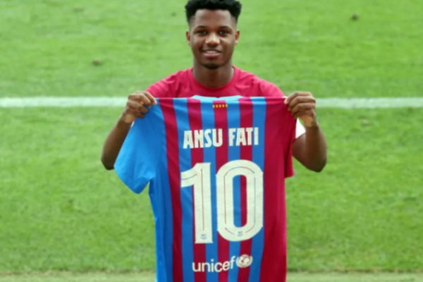 Barcelona have put Fati in the new number 10 to replace Messi